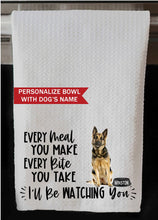 "PERSONALIZED German Shepherd Dog Every Meal You Make, Every Bite You Take Kitchen Towel - 16""x24"", Housewarming Gift"