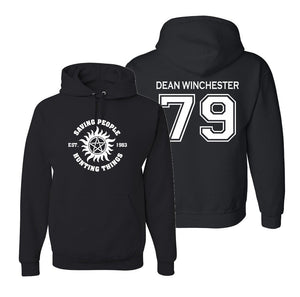 Supernatural Hoodie, Dean Winchester 79 Hooded Sweatshirt, Saving People Hunting Things