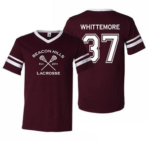 Beacon Hills Lacrosse Whittemore 37 Unisex Jersey