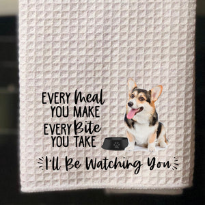 "PERSONALIZED Tri-Color Corgi Every Meal You Make, Every Bite You Take Kitchen Towel -15""x25"", Housewarming Gift"