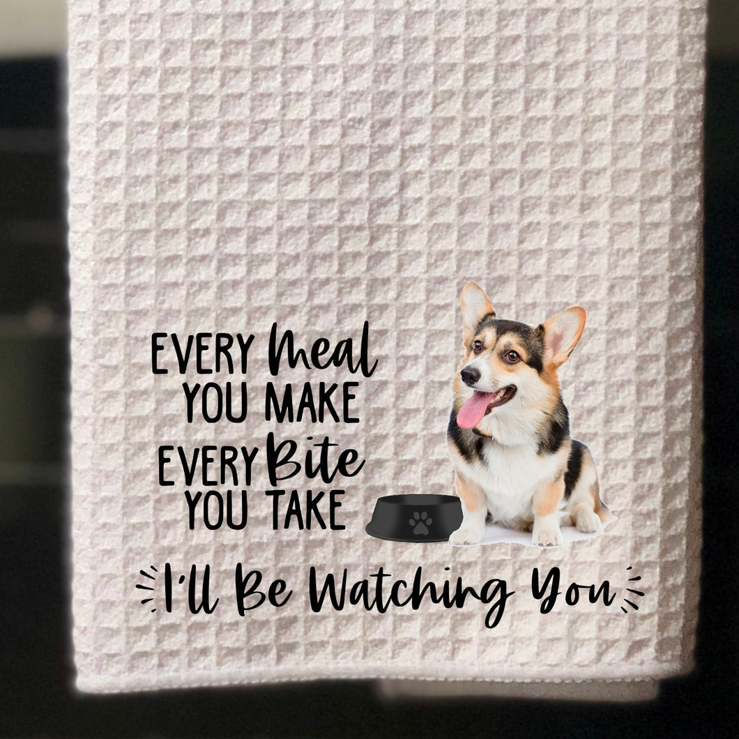 PERSONALIZED Tri-Color Corgi Every Meal You Make, Every Bite You Take Kitchen Towel -15