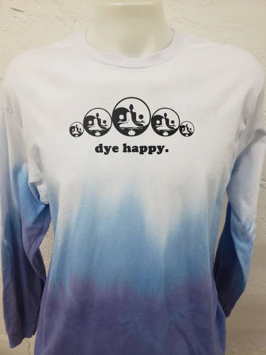 Dip Dye Long Sleeve T Shirt Royal Blue