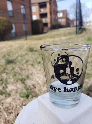 Dye Happy Shot Glass