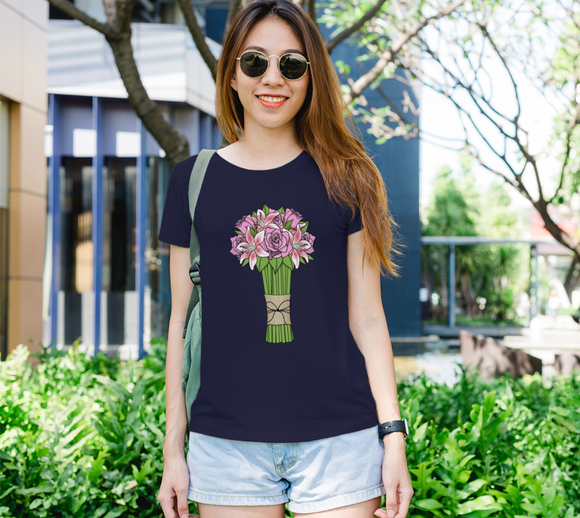 Bouquet of Flowers Women's Fitted Tee