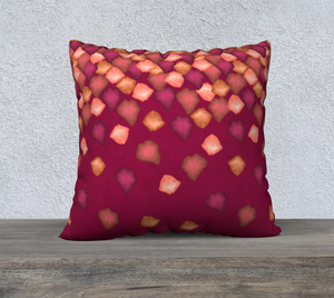 "Falling Leaves Pillow Case - 22""x22"""