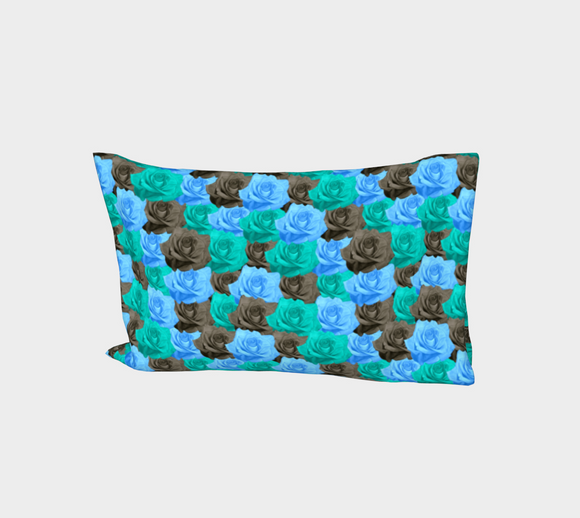 Blue Roses Bed Pillow Sleeve
