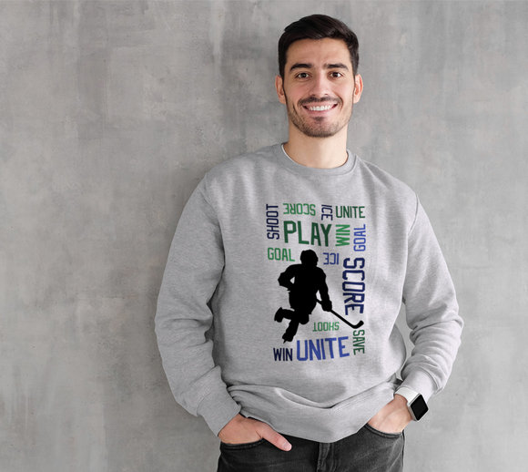 For the Love of Hockey Crewneck Sweatshirt - Blue