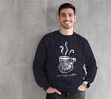 But First, Coffee Large Print Crewneck Sweatshirt