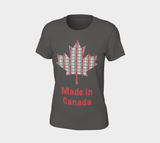 Made in Canada Women's Fitted Tee - Classic Plaid