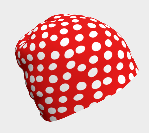 All About the Dots Beanie - Red