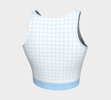Gingham Athletic Crop Top