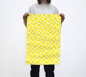 All About the Dots Tea Towel - Yellow