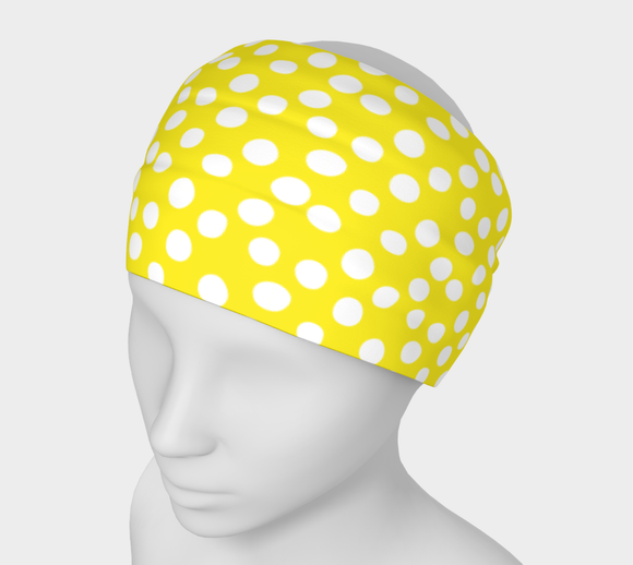 All About the Dots Headband - Yellow
