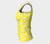 All About the Dots Fitted Tank Top - Yellow (Long)