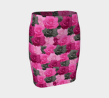 Pink Roses Fitted Skirt