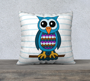 "Oliver the Owl Pillow Case - 22""x22"""