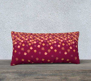 "Falling Leaves Pillow Case - 24""x12"""