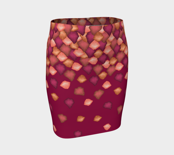 Falling Leaves Fitted Skirt