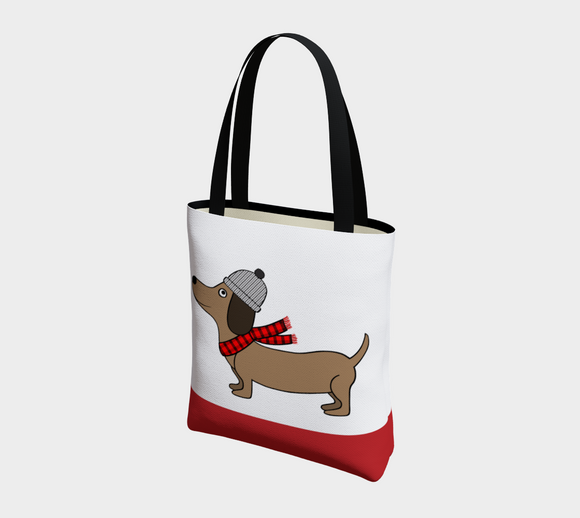 Dachshund Through the Snow Basic Tote