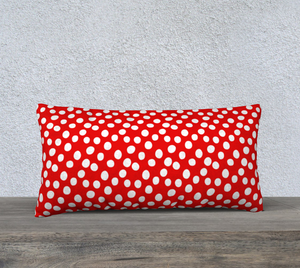 "All About the Dots Pillow Case - 24""x12"" Red"