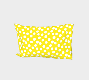 All About the Dots Bed Pillow Sleeve - Yellow