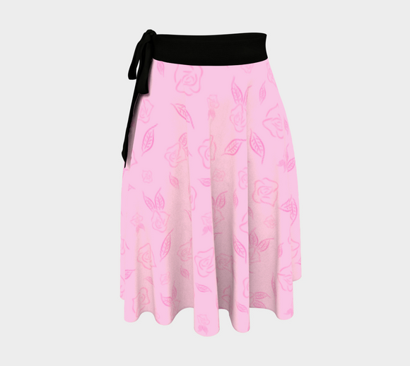 Cartoon Rose Wrap Skirt