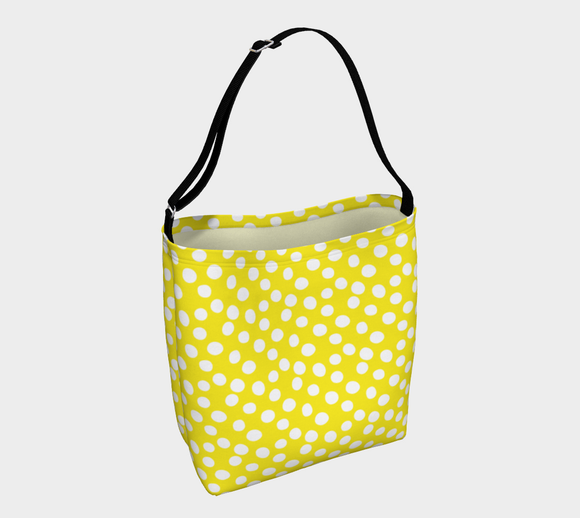 All About the Dots Tote Bag - Yellow