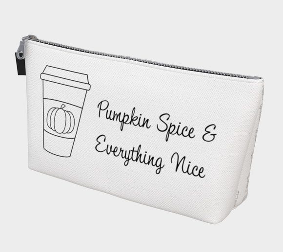 Pumpkin Spice & Everything Nice Makeup Bag