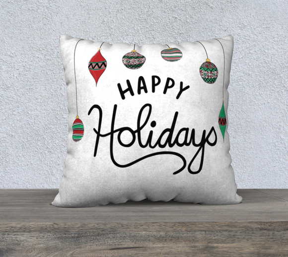 Happy Holidays Pillow Case - 22