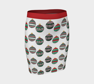 Happy Holidays Fitted Skirt