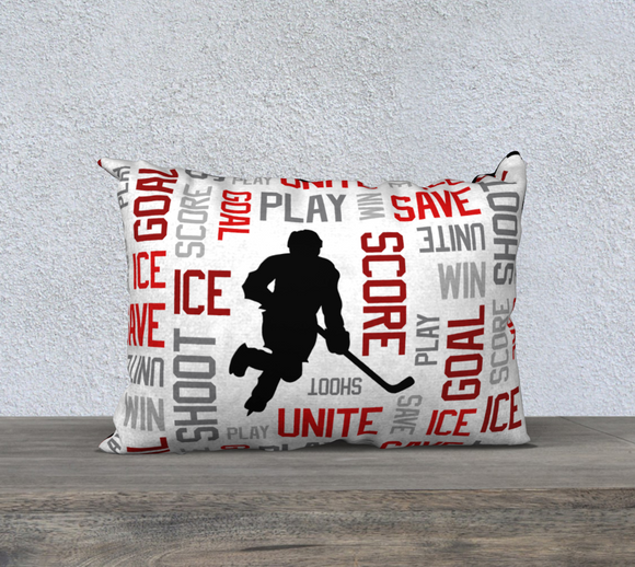 For the Love of Hockey Pillow Case - 20