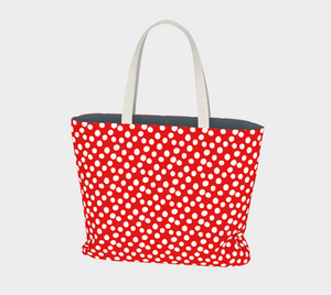 All About the Dots Market Tote - Red