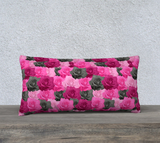 "Pink Roses Pillow Case - 24"" x 12"""