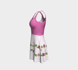 Bouquet of Flowers Vines Flare Dress