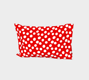 All About the Dots Bed Pillow Sleeve - Red