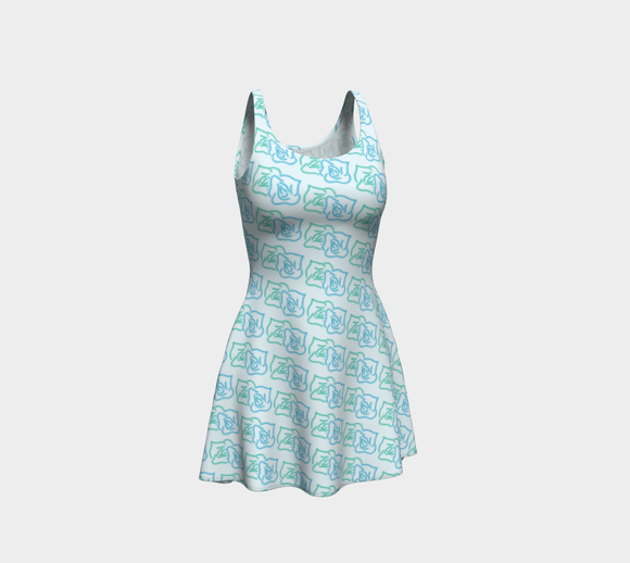 Walking for Sixty-five Roses Flare Dress