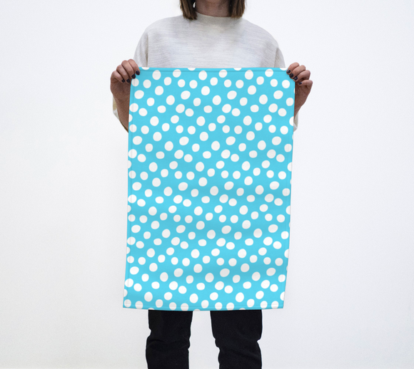 All About the Dots Tea Towel - Blue