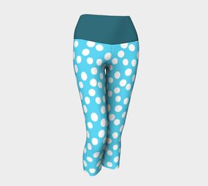 All About the Dots Yoga Capris - Blue