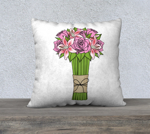 "Bouquet of Flowers Pillow Case - 22""x22"""