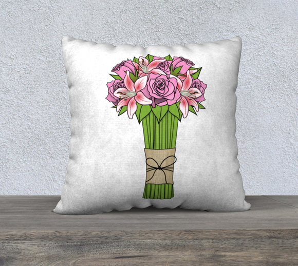 Bouquet of Flowers Pillow Case - 22