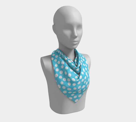 All About the Dots Square Scarf - Blue