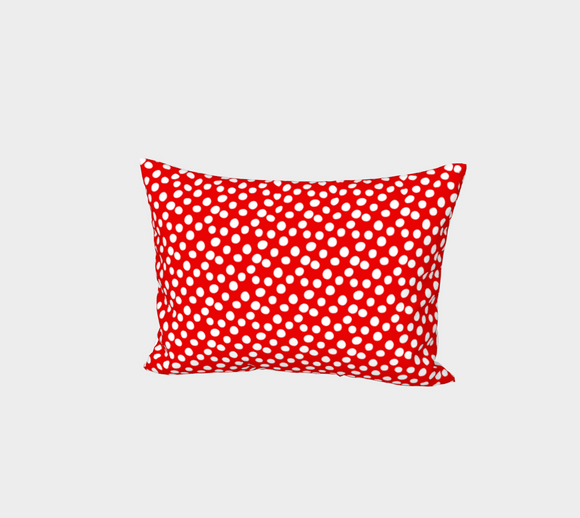 All About the Dots Bed Pillow Sham - Red