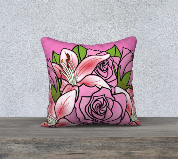Bouquet of Flowers Pillow Case 18