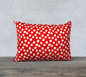 "All About the Dots Pillow Case - 20""x14"" Red"