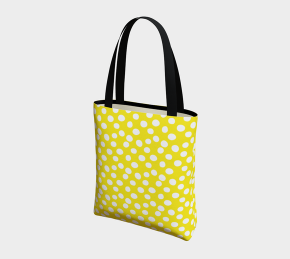All About the Dots Basic Tote - Yellow
