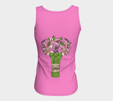 Bouquet of Flowers Fitted Tank Top (Long)