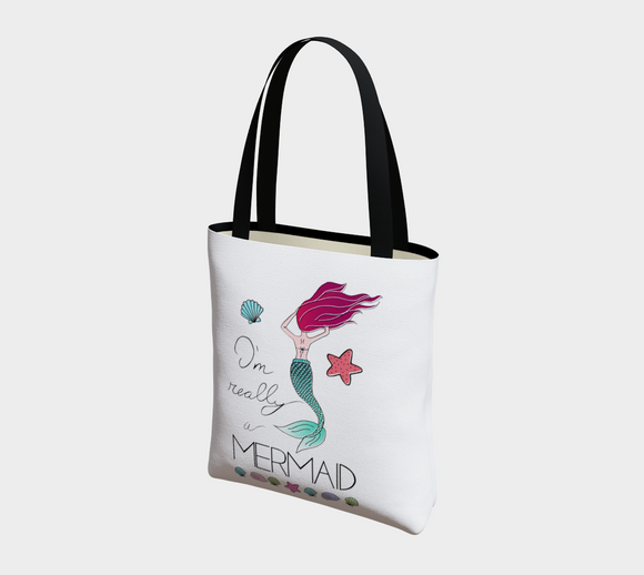 I'm Really a Mermaid Basic Tote