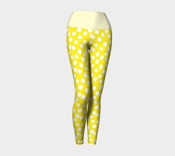 All About the Dots Yoga Leggings - Yellow