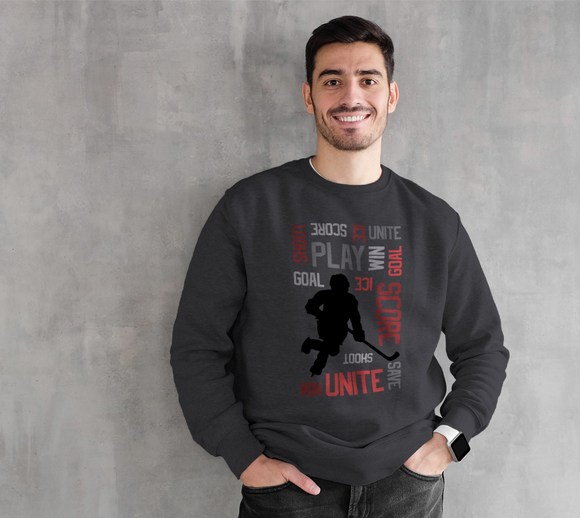 For the Love of Hockey Crewneck Sweatshirt - Red