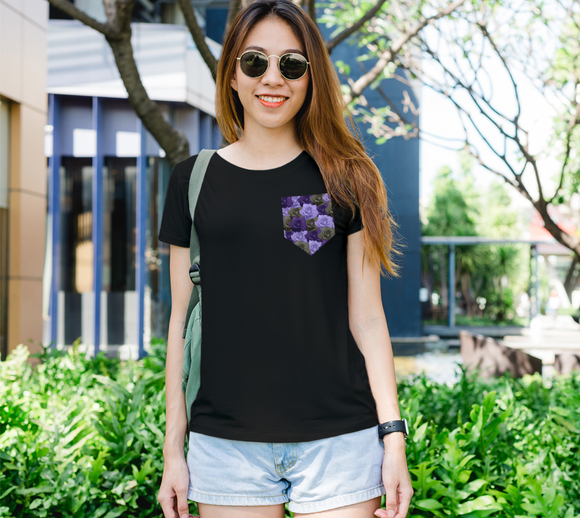 Roses Pocket Women's Fitted Tee
